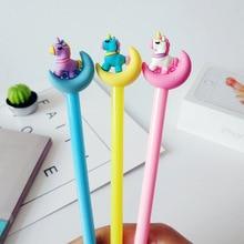 цена 36 Pcs/Lot Color Moon & Unicorn Gel Pen 0.5mm Roller Ball Pen Black Ink Refill Kid Gift Stationery Office School Supplies Kawaii онлайн в 2017 году