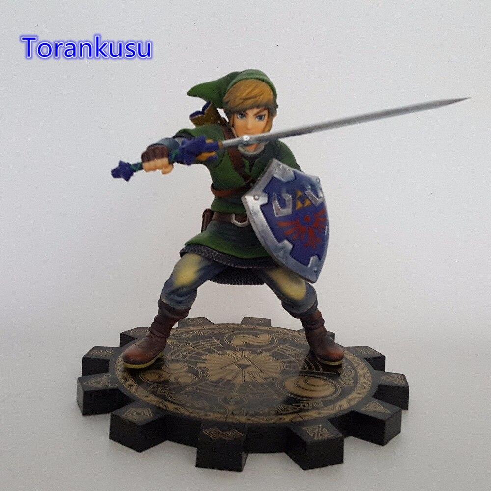 La légende de Zelda 1/7 échelle PVC figurine d'action Anime jeu jouet Zelda Link Skyward épée modèle à collectionner jouet LZ01
