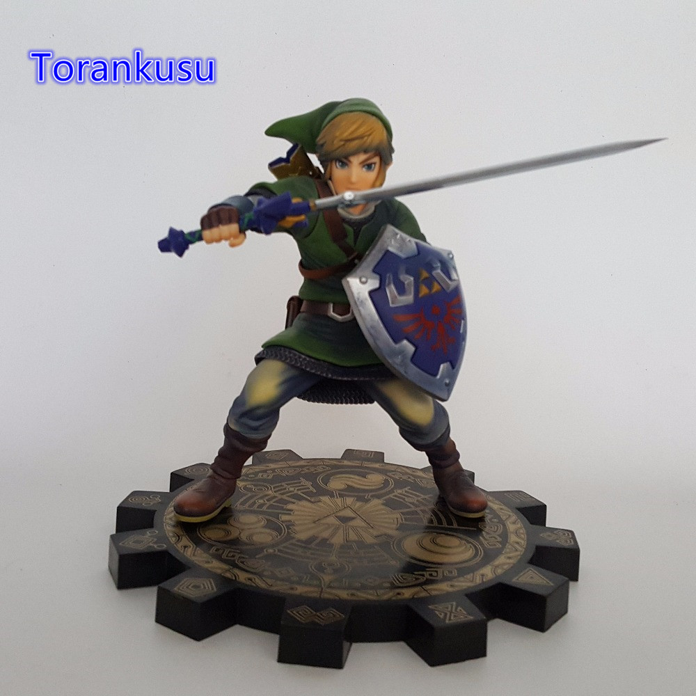 The Legend of Zelda 1/7 Scale PVC Action Figure Anime Game Toy Zelda Link Skyward Sword Collectible Model Toy LZ01 anime the legend of zelda action figure link fighting ver link doll pvc figure collectible model toy 30cm kt3647