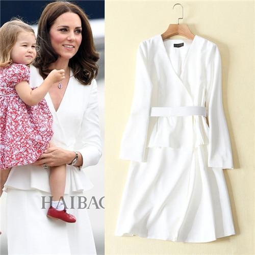 new arrival long sleeve women dresses free shipping lady dresses kate middleton dress white elegant peplum dress solid black