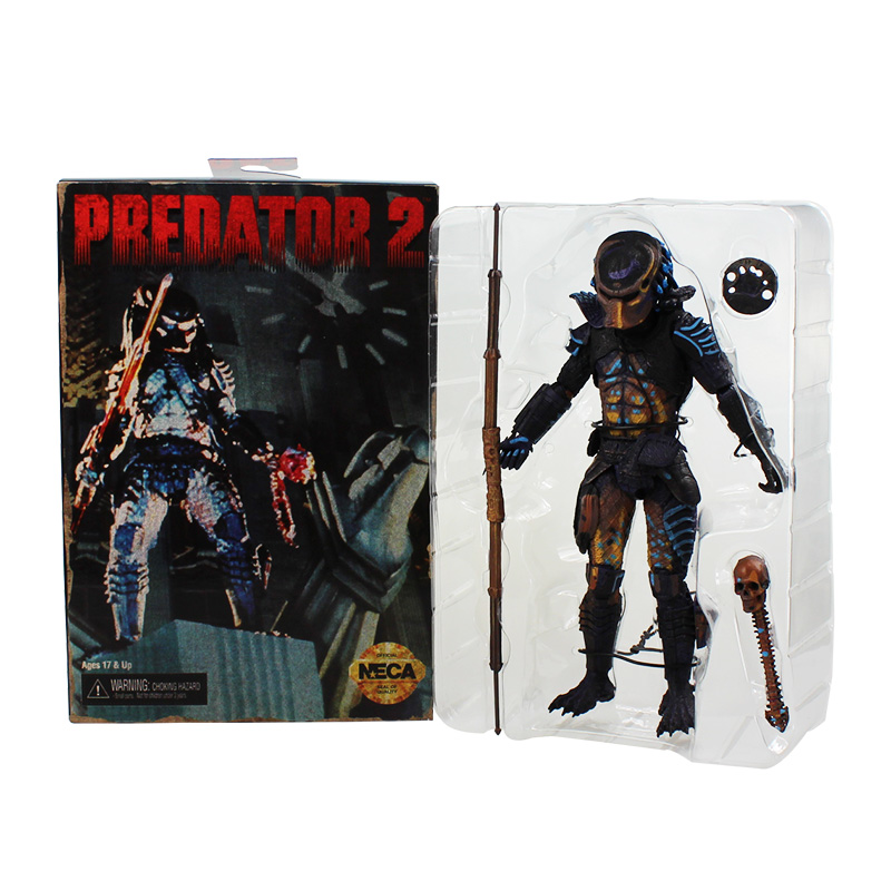 NECA PVC Predator 2 Action Figure Toy Collectible Model Dolls Classic Toys Great Gift 718cm With Color Box Free Shipping neca predator 2 pvc action figures toys collectible model dolls classic toy great gift 718cm with box free shipping
