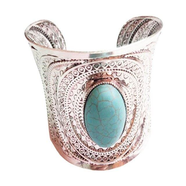 Bohemian Cuff Stone Bracelet
