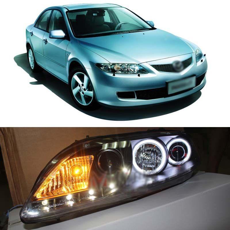 Бренд Ownsun новые светодиодные ДХО орлиный глаз фары для Mazda 6 2003-2005 седан и хэтч