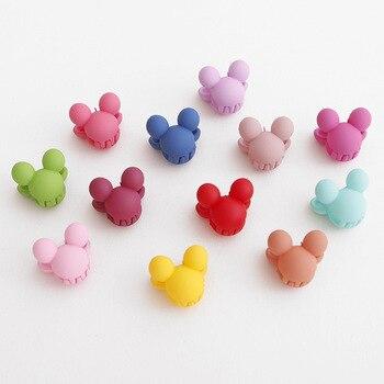 10 unids/lote horquilla para niños hecha a mano Minnie Mickey alas Bowknot estrellas Clips para el cabello accesorios niños pasadores para niñas sombreros