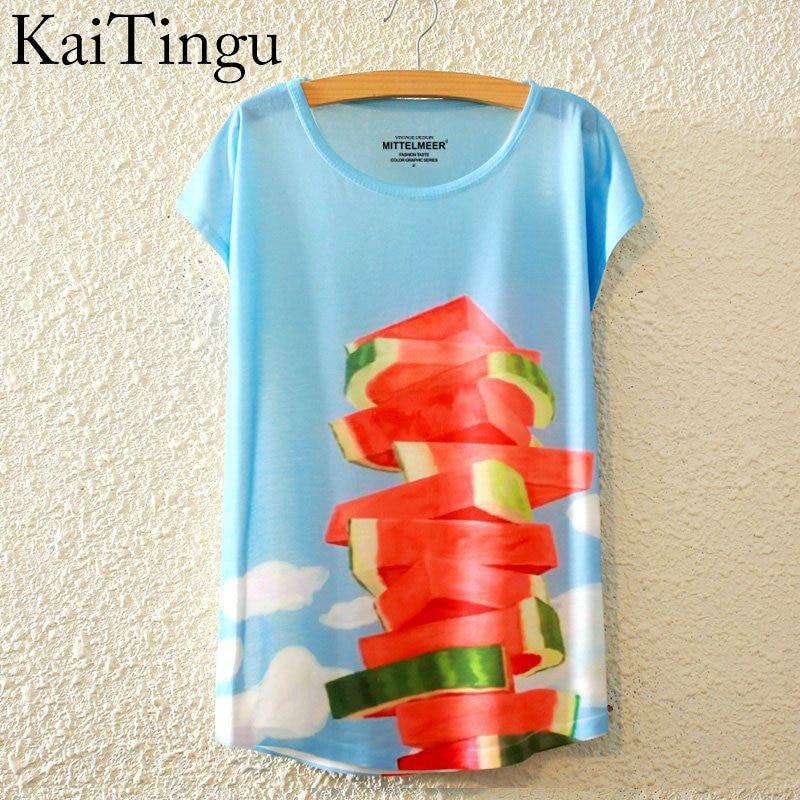HTB1j.4yLpXXXXaDaXXXq6xXFXXXF - New Fashion Summer Animal Cat Print Shirt O-Neck Short Sleeve T Shirt