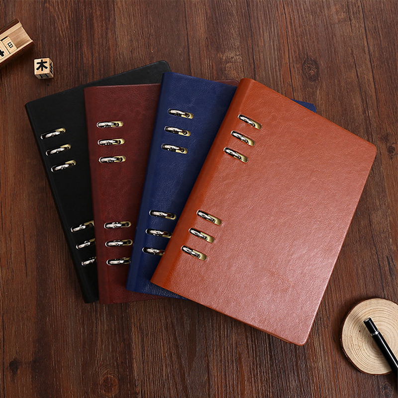MEIKENG 1PC High-end Loose Leaf Imitation Leather Notebook Notepad High Quality Students Stationery Office Material factory sale good quality writing pads 148 210mm notepad business a5 office stationery high end book with loose leaf notebook