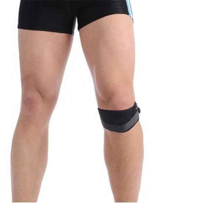 1 sztuk regulowany ochraniacz na kolano wsparcie klęcząc klocki rzepki Protector pas sportowe kolana pasek ochronny Band nogi pomoc Brace straż