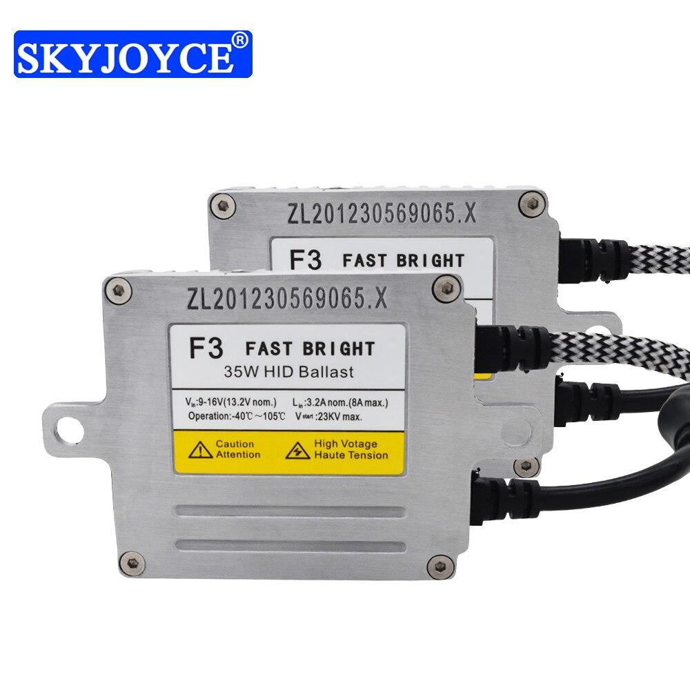 SKYJOYCE 1 Pair 35W Original DLT F3T Fast Start HID Ballast For Car Headlight Bulb H1