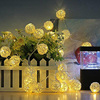 3M 20 LED String Lights Rattan Ball Garlands Holiday Wedding Party Decoration LED String Christmas Fairy Light For Outdoor       1