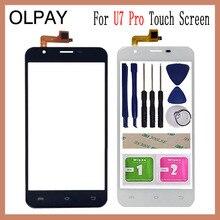 5.5 אינץ עבור Oukitel U7 Pro פרו מגע מסך Digitizer פנל קדמי חיצוני חזית זכוכית עדשת חיישן משלוח דבק + מגבונים