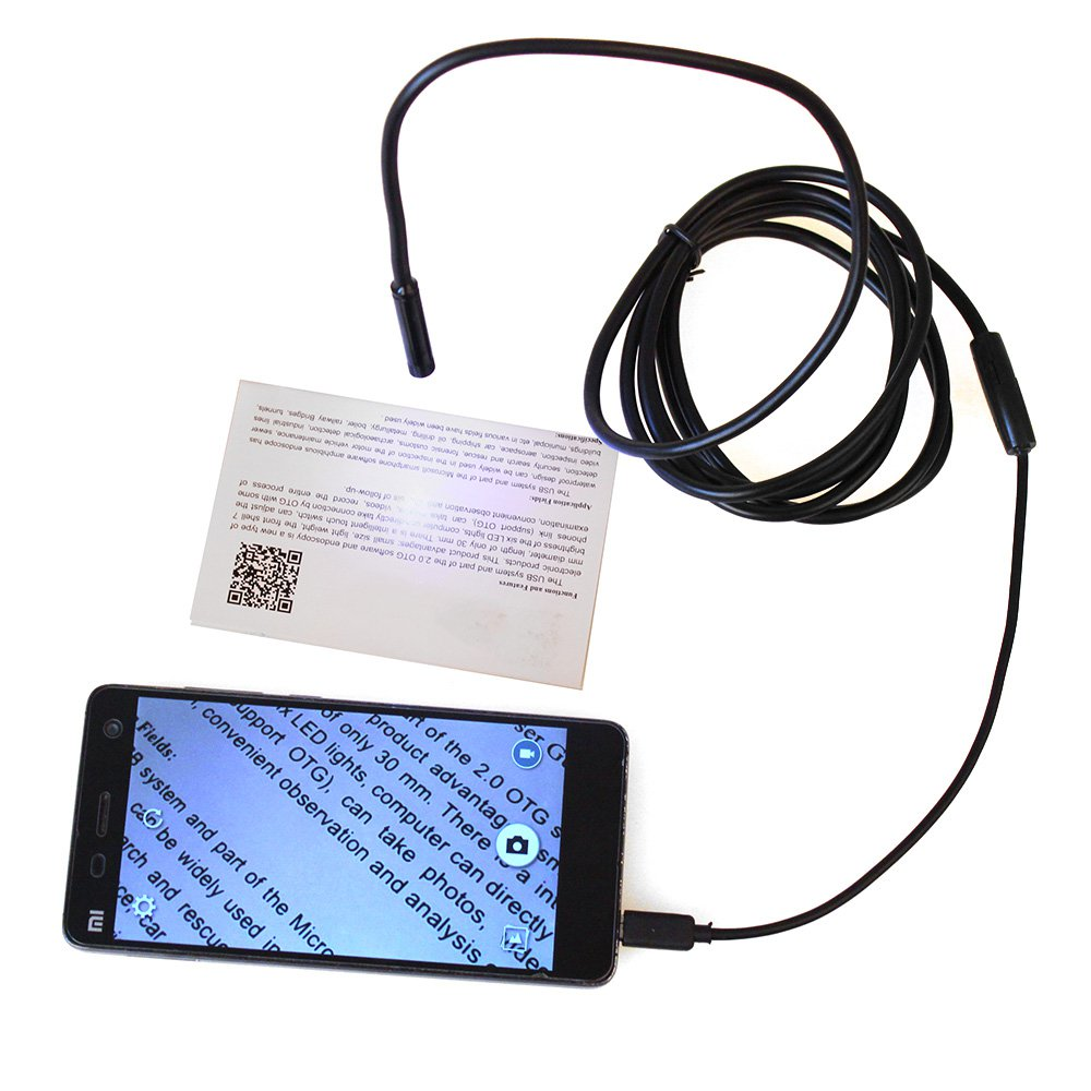 Hard pipe diameter 7MM length 1 Mian Zhuo phone HD industrial endoscope pipeline inspection camera snake tube chinscope 99d 2 4 inspection endoscope diameter 3 9mm camera 1m tube length snake industrial endoscope with carrying box case