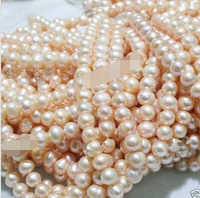 ENVÍO LIBRE N704 >>>@@ Hilos Al Por Mayor Natural 9-10mm Pink Perlas de Agua Dulce Suelta Perlas 15 10 unid