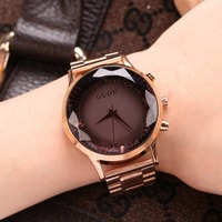 GUOU New Design Brand Women Quartz Watch Bracelet Style Watch Clock 2017 Luxury Gold Ladies Wrist