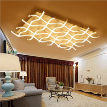 New arrival Acrylic Aluminum Modern Led Ceiling Chandelier Light For Living Room Bedroom Study Room AC85-265V Ceiling Chandelier