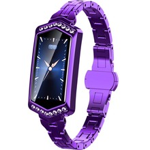 Buy J1 Electronics smart watches Heart Rate Monitor Fashion Sport Smart Watch Menstrual Reminder Band Women Bracelet for Android IOS directly from merchant!