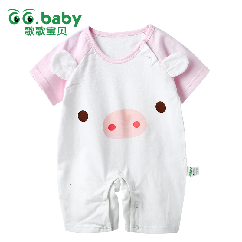 Fashion Baby Girl Romper Baby Newborn Boy Clothes Pig Print Summer Jumpsuit Baby Girls Romper Short Sleeve Costume For Baby