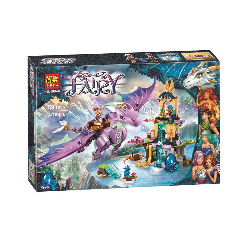 Bela Elves The Dragon Sanctuary Building Kit Compatible <font><b>Legoingly</b></font> <font><b>41178</b></font> Bricks Toys For Children (591 Piece) image
