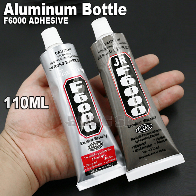 High Quality! 110ml 160g F6000 Aluminum Bottle Adhesive Glue, gel multi purpose work for DIY Nail Art jewelry crystal rhinestone