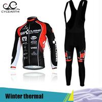 CUBE Ciclismo Winter Thermal Fleece Cycling Clothing Long Sleeves Ropa Ciclismo Invierno Hombre 2015 Popular Cycling
