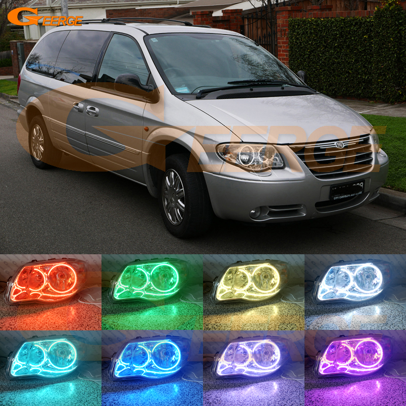 For Chrysler Voyager Grand Voyager 2005 2006 2007 Excellent Ultra bright RGB Multi-Color LED Angel Eyes Halo Rings led light гамак двухместный туристический voyager