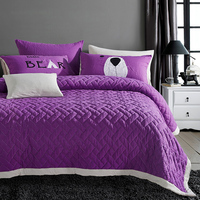 9 Colors 100 Polyester Quilt Pillowcase Patchwork Bedspread Quilted Coverlet Twin Queen Size Summer Home Use
