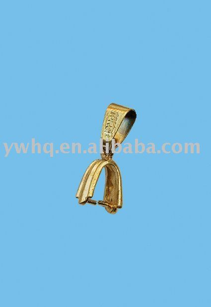 Free shipping(1,000pcs) pendant connector with plating golden in wholesale price