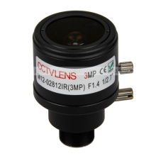 3MP F1.4 1/2.7″ 2.8-12mm M12 Mount CCTV Manual Varifocal Lens Fixed-IRIS