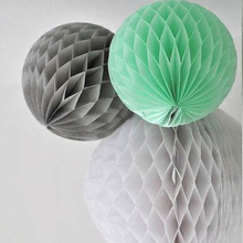 3pcs 15cm/25cm  Fresh Color Tissue Paper Honeycomb Balls Hanging Wedding Birthday Shower Party Supplies Room Decorations