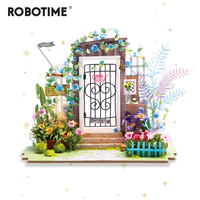 Robotime DIY Dream Garden Mini Puzzle Doll House Model Building Kit Toy House Child Adult Gift Doll House Furniture jooyoo