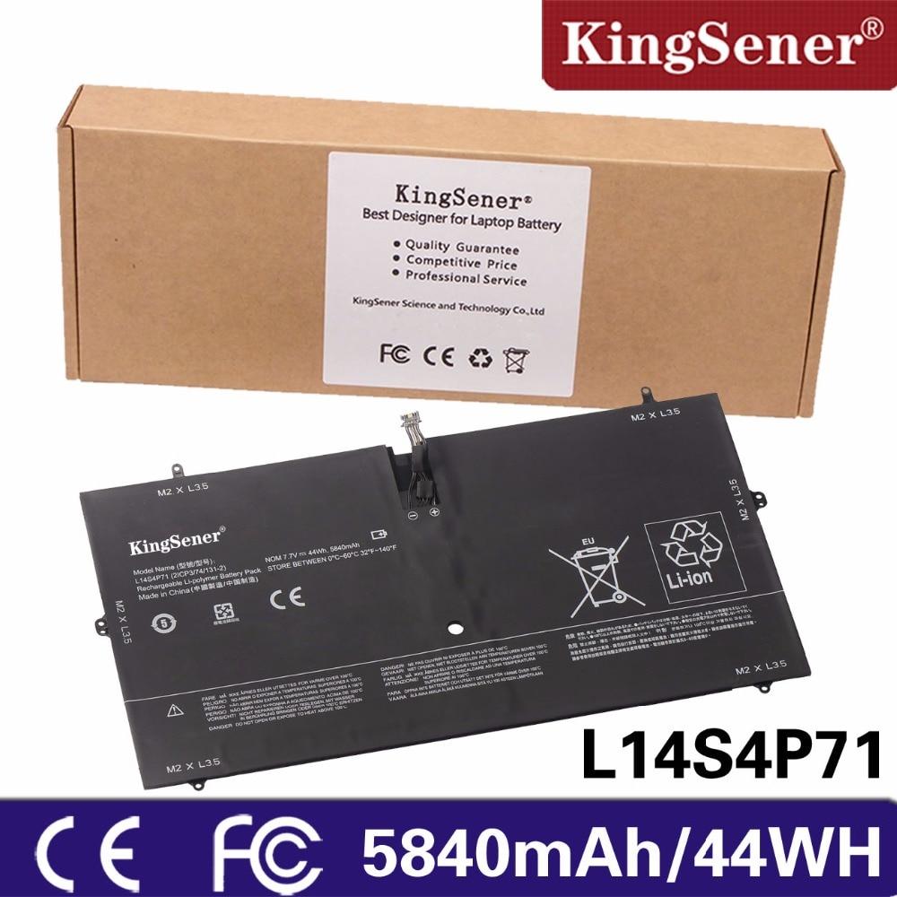 KingSener New L14S4P71 Laptop Battery For Lenovo Yoga 3 Pro 1370 series 21CP3/74/131-2 L13M4P71 7.4V 44WH Free 2 Years Warranty kingsener japanese cell new 191yn laptop battery for dell alienware 15 r1 15 r2 191yn 14 8v 92wh free 2 years warranty