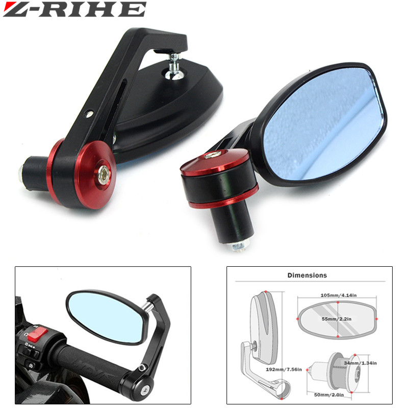 "Flexible 7/8"" 22mm Handlebar Aluminum Alloy Motocycle Rearview Mirrors Moto End Motor Side Mirrors Motorcycle Accessories"