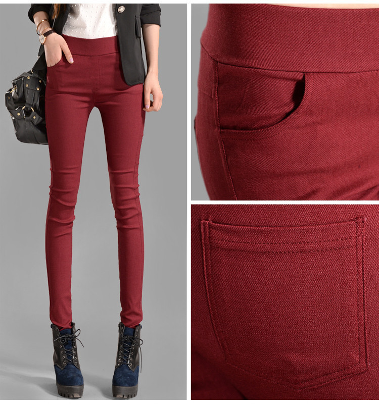 New 2017 Women Jeans Fashion Candy Color Skinny Pants low waist 4 Pockets Cotton Trousers Fit Lady Jeans Women Pants M-XL A0150 1