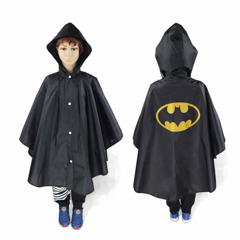Дети пальто дождя Мультфильм стоимость дождя Дети мультяшный пончо одного человека дождевик для мальчиков девочек пончо