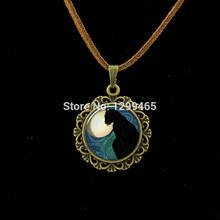 Morocco fashion jewelry Vintage black Cat Animal art picture Necklace Simple design lucky Gift for friends animal dog lovers(China)