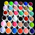 36 Colors /set Pure Colour uv gel Nail Art Tips Shiny Cover Extension Manicure gel  tools