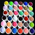 36 Colors / set Pure color gel uv Nail Art puntas cubierta brillante extensión manicura gel herramientas