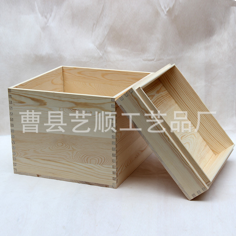 Custom Cheap Large Wooden Storage Box With Lid