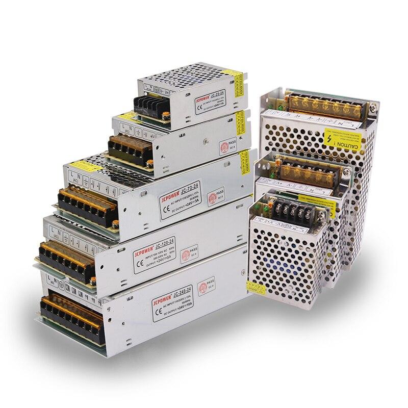 AC 110 V-220 V TO DC 5 V 12 V 24 V 1A 2A 3A 5A 10A 15A 20A 30A 50A Switch Adapter Driver Power Supply LED Strip Light
