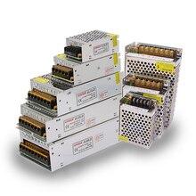 AC 110 V-220 V к DC 5 V 12 V 24 V 1A 2A 3A 5A 10A 15A 20A 30A 50A переключатель адаптер драйвер Источник питания Светодиодная лента