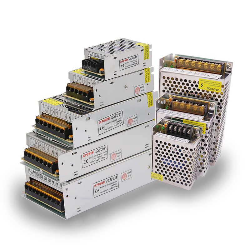 AC 110 V-220 V DC/DC 5 V 12 V 24 V 1A 2A 3A 5A 10A 15A 20A 30A 50A сплиттер адаптер драйвер Питание Светодиодные ленты света