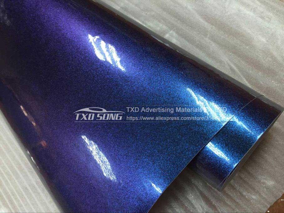 50X152 см/лот новейший жемчужный Блестящий хамелеоновый фильм с воздушными пузырьками жемчуг-хамелеон виниловая Автомобильная Наклейка - Название цвета: light blue to purple