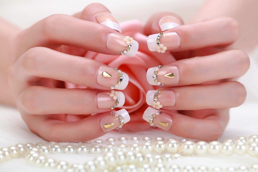 Dcr5869 2015 Fake Nails French Acrylic Acrylic Tips False