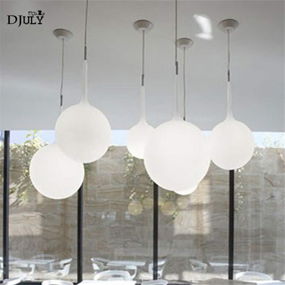 nordic Italy design golf glass ball pendant lights for dining room living room art deco kitchen fixtures indoor led luminaire|Pendant Lights| |  - title=