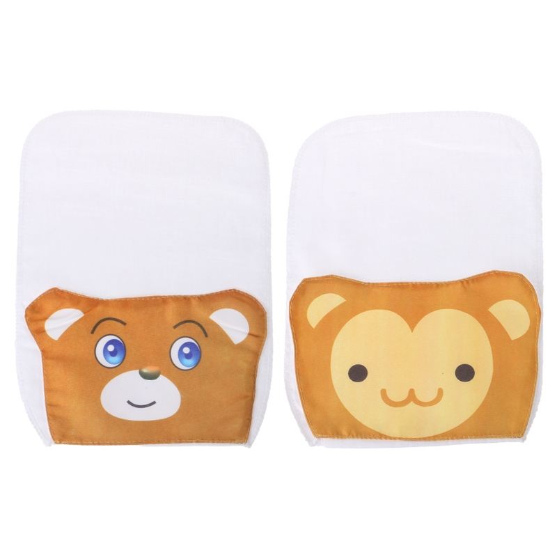 Baby Care Soft 2Pcs Baby Towel Absorb Sweat Back Summer Reusable Wipe Cartoon Soft Perspiration
