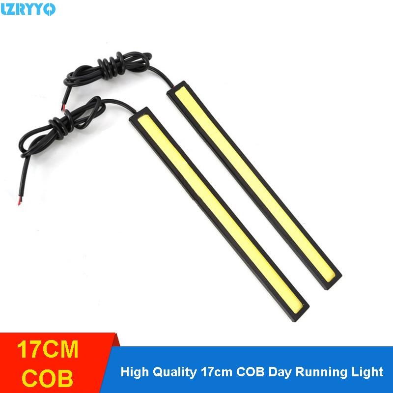 2Pcs 17cm COB DRL Led Driving Daytime Running Lights Strip External Lights Auto Waterproof Car Accessories Led Light Source