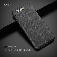 For Huawei Honor 9 Case Soft Silicone PU Leather Shockproof Bumper Cover Funda BSNOVT