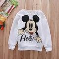 Venta al por menor! en Stock Baby girl / boy patrón de Mickey de manga larga camisa de los niños otoño / primavera suéter