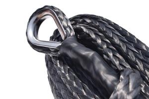 Image 3 - Черный синтетический удлинитель для лебедок 10 мм * 26 м, трос для лебедок ATV, трос UHMWPE, буксировочный трос для автомобиля