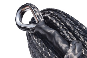 Image 3 - Black 10mm*26m Synthetic Winch Rope Extension,ATV Winch Cable,UHMWPE Rope,Tow Rope Car