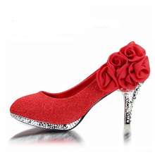 2017 Brand Women Wedding Shoes Red Bottoms Platform Wedge High Heels Sexy Woman Pumps Ladies Pointed Toe Bridal Shoes GG1018
